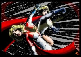 Powergirl Vs Powergirl by adamantis