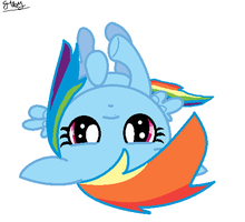 Rainbow Dash is bored by 1132002GABY