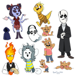 Undertale Characters by BlueOrca2000