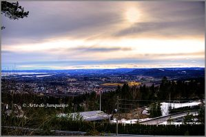 Western Oslo - towards sunset by Arte-de-Junqueiro
