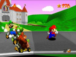 Mario will get ran over by ZeldaFreak108