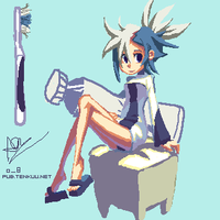 Toothbrush-tan by oh8