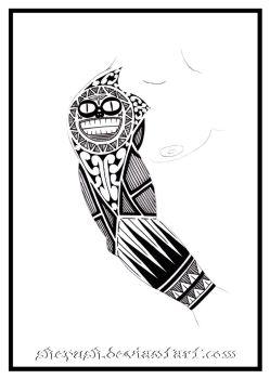 Full sleeve tattoo 7 by shepush