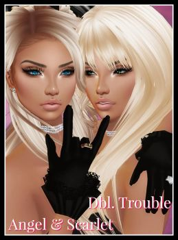 Dbl Trouble (((Angel and Scarlet))) color by BrokenxoxAngel