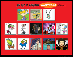 My Top 13 Favorite Nicktoon Villains by cartoonfanboyone