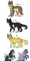 Warrior Clan Adopts [0/8] CLOSED by RibbonWren-Adopts