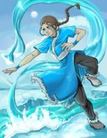 Waterbending Katara by animatey