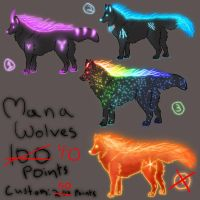 Mana Wolves by Ravenskysong