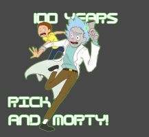 100 years Rick and Morty by SeniorPotato