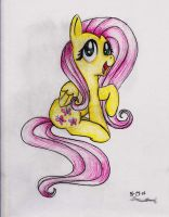 Fluttershy pencil by Angelstar7