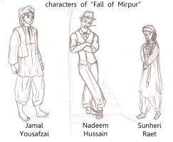 major characters of FALL OF MIRPUR by ArsalanKhanArtist