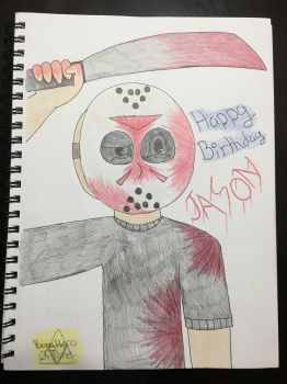 Jason Voorhees' birthday by YoungHeroOfTime