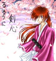 __::+Kenshin in spring+::__ by shadowvixen