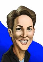 Caricature- Rachel Maddow by gtgauvin
