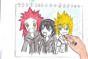 Axel Roxas and Xion by FlamingAxel