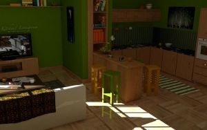 Kitchen-Living Room by TA1AT