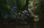 -com- RestrainedRaptor by Luphin