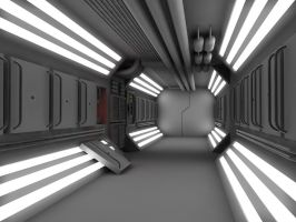 WIP 5 Sci Fi Corridor by 2753Productions