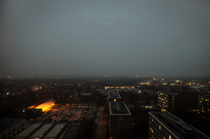 Dusk over Kiel by Bittersuesz
