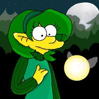 Saria - Simpsons Style by bassooniac