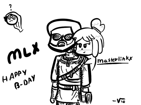 I drew a picture for MasterLinkX by VioletLinked