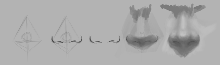 Nose Study Progression by SpazzStudios