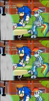Sonic and RD: DAT FACE!!! XD by HoshiNoUsagi