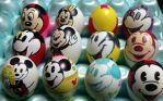 Mickey Mouse Easter eggs by Rene-L