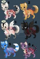 Adoptable Kitterns (Cheap + Open) by creepypastaFran