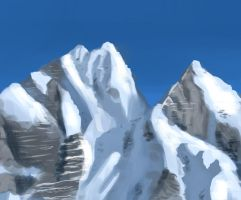 Mountains Speed Painting by MikeMeth