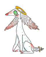 ADOPT: angel doggy (closed) by bearkind