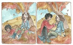 Avery and Diego autumn by LilyScribbles