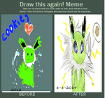 Before and After Shiny Jolteon by JolteonCyndaquil