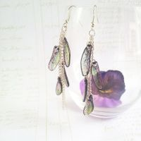 Dragonfly wing earrings by Korn-Elia