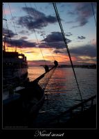 Zadar Naval sunset by Ladycat