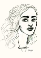 Chick with the names. Stormborn-Mutha-Eyebrow-Lady by StressedJenny