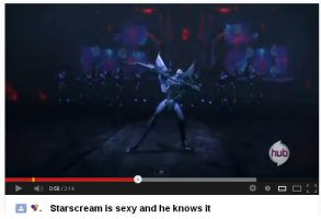 Starscream is sexy and he knows it music video by theneopetmaster