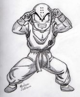 Krillin - Sketch #1 by Jaylastar