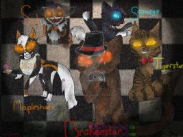 Warrior Cats as the Five Nights at Freddy's gang by WarriorSharpfang