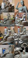 Fem Indiana Jones WIP series by seankylestudios