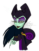 Burtonized Maleficent by SilverTallest