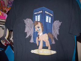 Doctor Whooves Shirt by MasteroftheContinuum