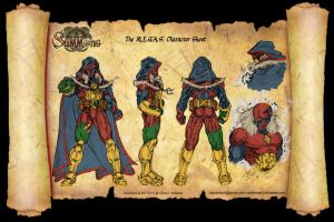 The M.E.G.A.S. Character sheet clrs by CdubbArt