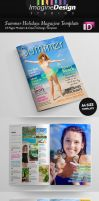 Summer Holidays Magazine Template by idesignstudio