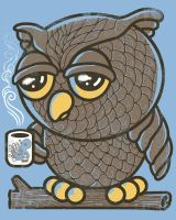 Owl I Want is a Cup of Coffee by qetza