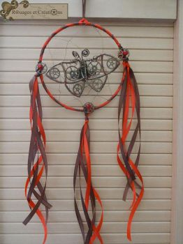Steampmunk Butterfly Dreamcatcher by Rouages-et-Creations
