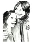Ron and Hermione by thenarwhal