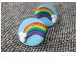 Rainbow Studs: Blue by caturs