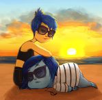 Joy x Sadness: beachies by catharticaagh