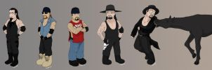 The many faces of Chibi Taker by RipperBlackstaff